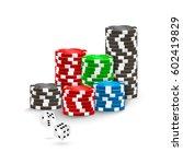 poker chips and white casino...   Shutterstock .eps vector #602419829