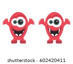 two of cartoon funny monsters | Shutterstock .eps vector #602420411