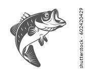 bass fish vector illustration... | Shutterstock .eps vector #602420429