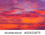 nature background. red sky at... | Shutterstock . vector #602421875