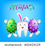 bunny tooth character with... | Shutterstock .eps vector #602423129