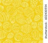 easter seamless pattern. hand... | Shutterstock .eps vector #602430554