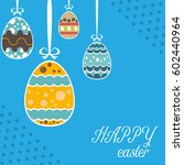 easter template annual report... | Shutterstock .eps vector #602440964