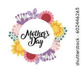 happy mother's day card with...   Shutterstock .eps vector #602446265