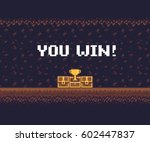 pixel art game background ... | Shutterstock .eps vector #602447837