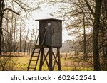 hunting lodge in nature   Shutterstock . vector #602452541