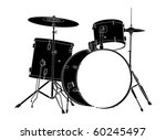 drum kit. | Shutterstock .eps vector #60245497