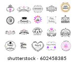 badge as part of the design  ... | Shutterstock .eps vector #602458385