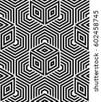 abstract geometric pattern with ... | Shutterstock . vector #602458745