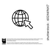 web line icon. globe  go to web | Shutterstock .eps vector #602469647