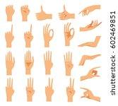 set of hands in different... | Shutterstock .eps vector #602469851