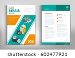 car repair brochure design.... | Shutterstock .eps vector #602477921