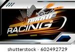 turbo racing vector concept for ... | Shutterstock .eps vector #602492729