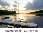 Sunset Over Mabou Harbor In...