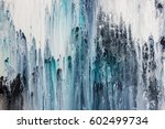 Blue And White Abstract Acryli...