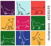 dog series   Shutterstock .eps vector #60250195