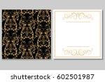 elegant golden black invitation ... | Shutterstock .eps vector #602501987
