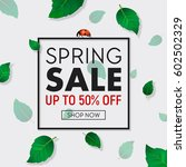 spring sale background banner... | Shutterstock .eps vector #602502329