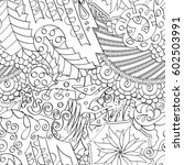 tracery seamless calming... | Shutterstock .eps vector #602503991
