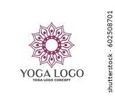 yoga logo | Shutterstock .eps vector #602508701