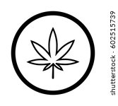 marijuana leaf icon with shadow ... | Shutterstock .eps vector #602515739