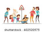 hilarious funny family life... | Shutterstock .eps vector #602520575