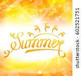 illustration summer abstract... | Shutterstock .eps vector #602521751