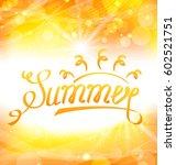 illustration summer abstract... | Shutterstock .eps vector #602521751