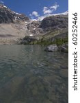 high alpine lake with a glacier ... | Shutterstock . vector #60252466