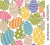seamless pattern with easter... | Shutterstock .eps vector #602532491
