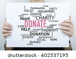 donate donation help concept | Shutterstock . vector #602537195