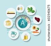 healthy eating. infographics.... | Shutterstock .eps vector #602540675