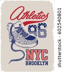 vintage sneakers with wings | Shutterstock .eps vector #602540801