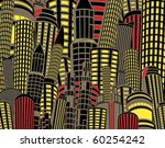 illustration of tall city... | Shutterstock . vector #60254242