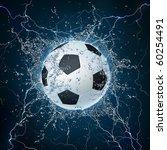 soccer ball on water. 2d...   Shutterstock . vector #60254491