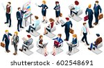 isometric people isolated... | Shutterstock . vector #602548691