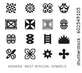 set of akan and adinkra  west... | Shutterstock .eps vector #602549105