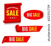 set of red sale banners.... | Shutterstock .eps vector #602551739