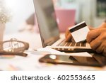 payment online for shopping... | Shutterstock . vector #602553665