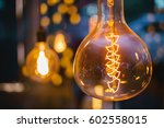 decorative vintage lamp bulbs... | Shutterstock . vector #602558015