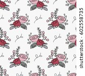 floral seamless pattern with...   Shutterstock .eps vector #602558735