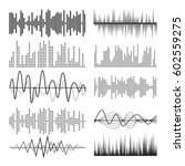 music sound waves pulse... | Shutterstock .eps vector #602559275