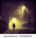 The Walking Man's Silhouette In ...