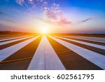 runway  airstrip in the airport ... | Shutterstock . vector #602561795