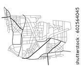 vector illustration city map.... | Shutterstock .eps vector #602564045
