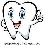 cartoon tooth giving thumb up | Shutterstock .eps vector #602566124