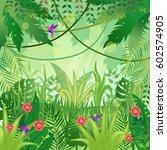 jungle background. jungle trees ... | Shutterstock .eps vector #602574905