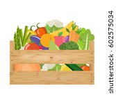 fresh healthy vegetables and... | Shutterstock .eps vector #602575034