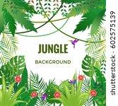 jungle background. jungle trees ... | Shutterstock .eps vector #602575139