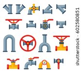 details pipes different types... | Shutterstock .eps vector #602580851